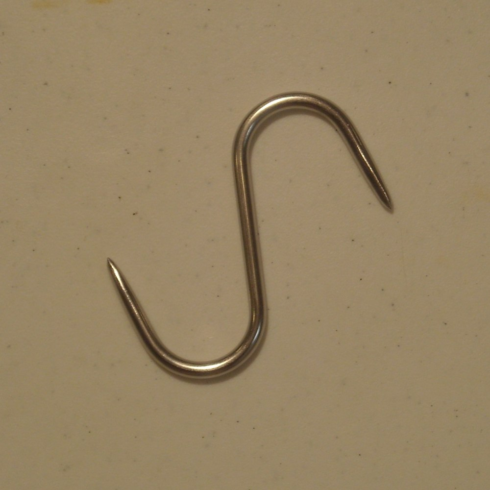 "Stainless Steel ""S"" Hook 1/4 x 4 Inch"