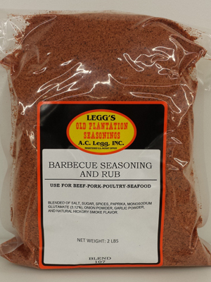 AC Leggs Old Plantation BBQ Seasoning & Rub Blend #107-2 LB