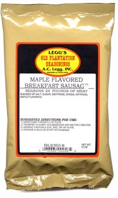 AC Leggs Maple Flavored Breakfast Sausage Seasoning Blend 8 Case of 24_LARGE