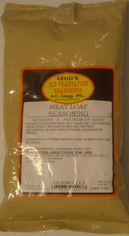AC Leggs Meat Loaf Seasoning