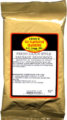 ACLeggs Old Plantation Cajun Sausage Seasoning LARGE