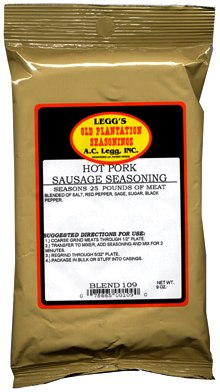 AC Leggs Hot Pork Sausage Seasoning Blend 109 Case of 24 THUMBNAIL