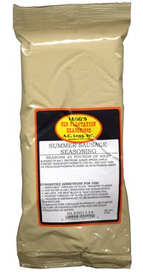 AC Leggs Summer Sausage Seasoning Blend 114 18oz Case of 24