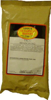 AC Leggs Old Plantation Taco Seasoning LARGE