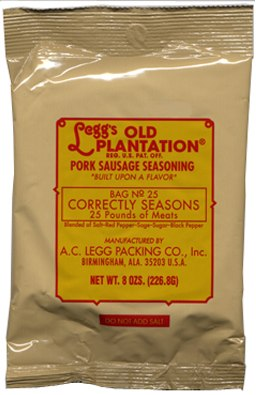 Leggs Old Plantation No Sage Pork Sausage Seasoning
