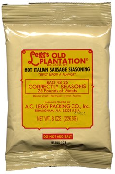 AC Leggs Hot Italian Sausage Seasoning Blend #103