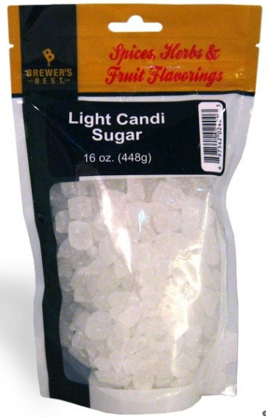 Light Belgian Candi Sugar 16 oz LARGE