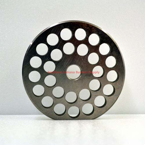 "Meat Grinder Plate Torrey #22 Enterprise Stainless Steel REVERSIBLE 3/8"" Holes THUMBNAIL"