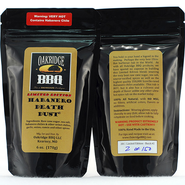 Oakridge BBQ Signature Edition Habanero Death Dust 6 oz