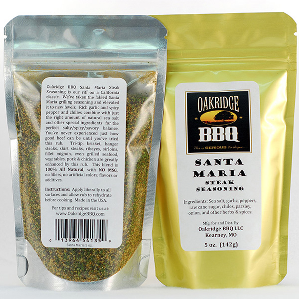 Oakridge BBQ Santa Maria Steak Seasoning 5oz