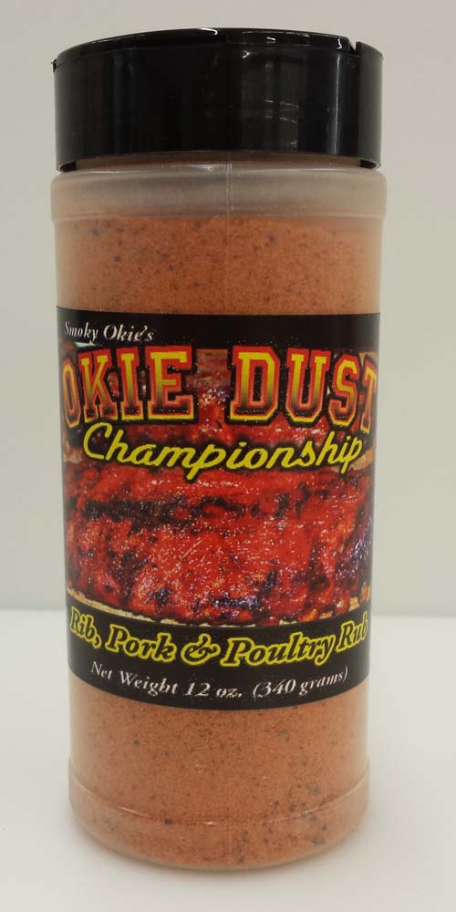 Smoky Okie's Okie Dust Rub 12oz THUMBNAIL