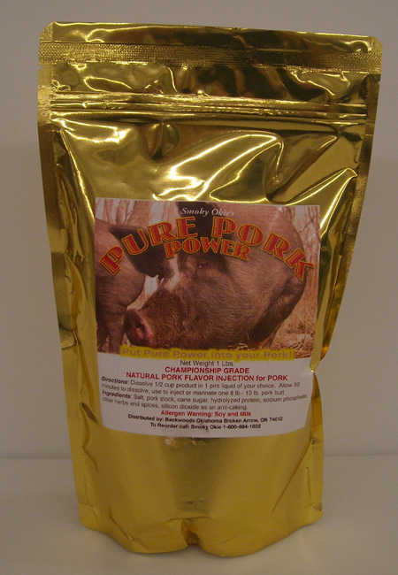 Smoky Okie's Pure Pork Power Injection/ Marinade 1 LB THUMBNAIL