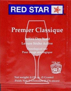 Red Star Premier Classique Active Freeze Dried Wine Yeast