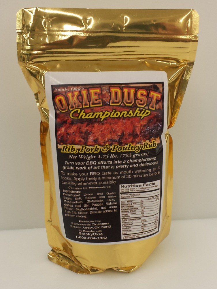 Smoky Okie Okie Dust 1.75 LB (Packed 10)