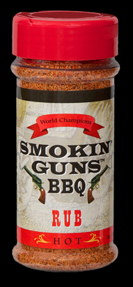 Smokin Guns BBQ Hot Rub 7 Ounce Bottle LARGE