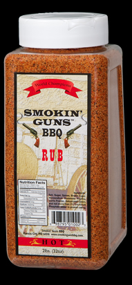 Smokin Guns BBQ Hot Rub 2 Pound Jug LARGE