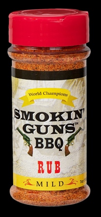Smokin Guns BBQ Mild Rub 7 Ounce Bottle