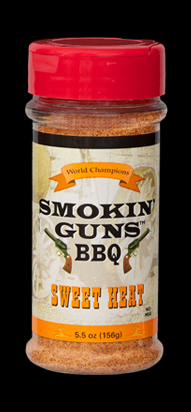 Smokin Guns BBQ Sweet Heat Rub 4.8 Ounce Bottle