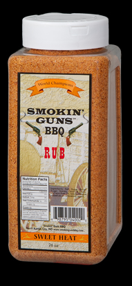 Smokin Guns BBQ Sweet Heat Rub 26 Ounce Jug LARGE