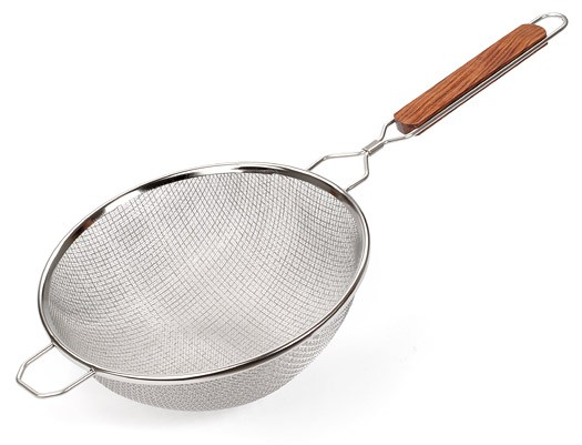 Strainer, Double Mesh Stainless Steel 10""