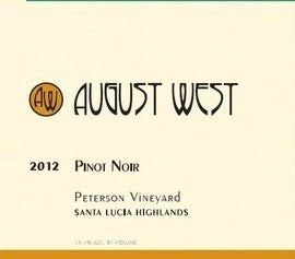 Wine Label: August West 2017 Pinot Noir Santa Lucia Highlands, Peterson Vyrd THUMBNAIL