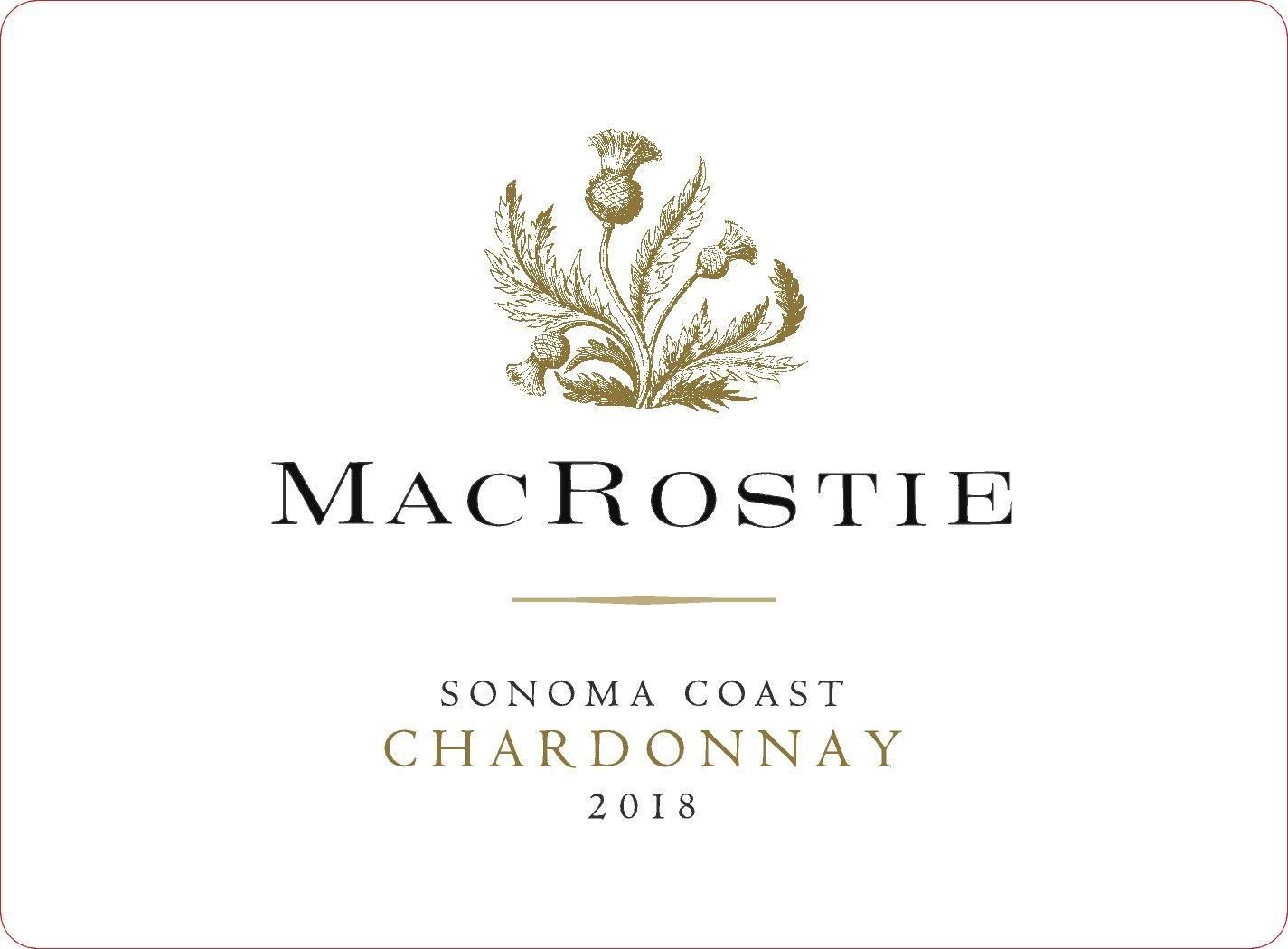 Wine Label - MacRostie 2018 Chardonnay, Sonoma Coast (HALF BOTTLE) THUMBNAIL