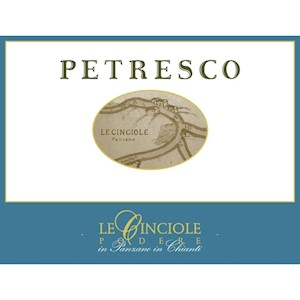 Wine Label: Le Cinciole Petresco, 2015 LARGE