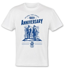 John Muir & Teddy Roosevelt National Park Service 100th Anniversary White T-Shirt