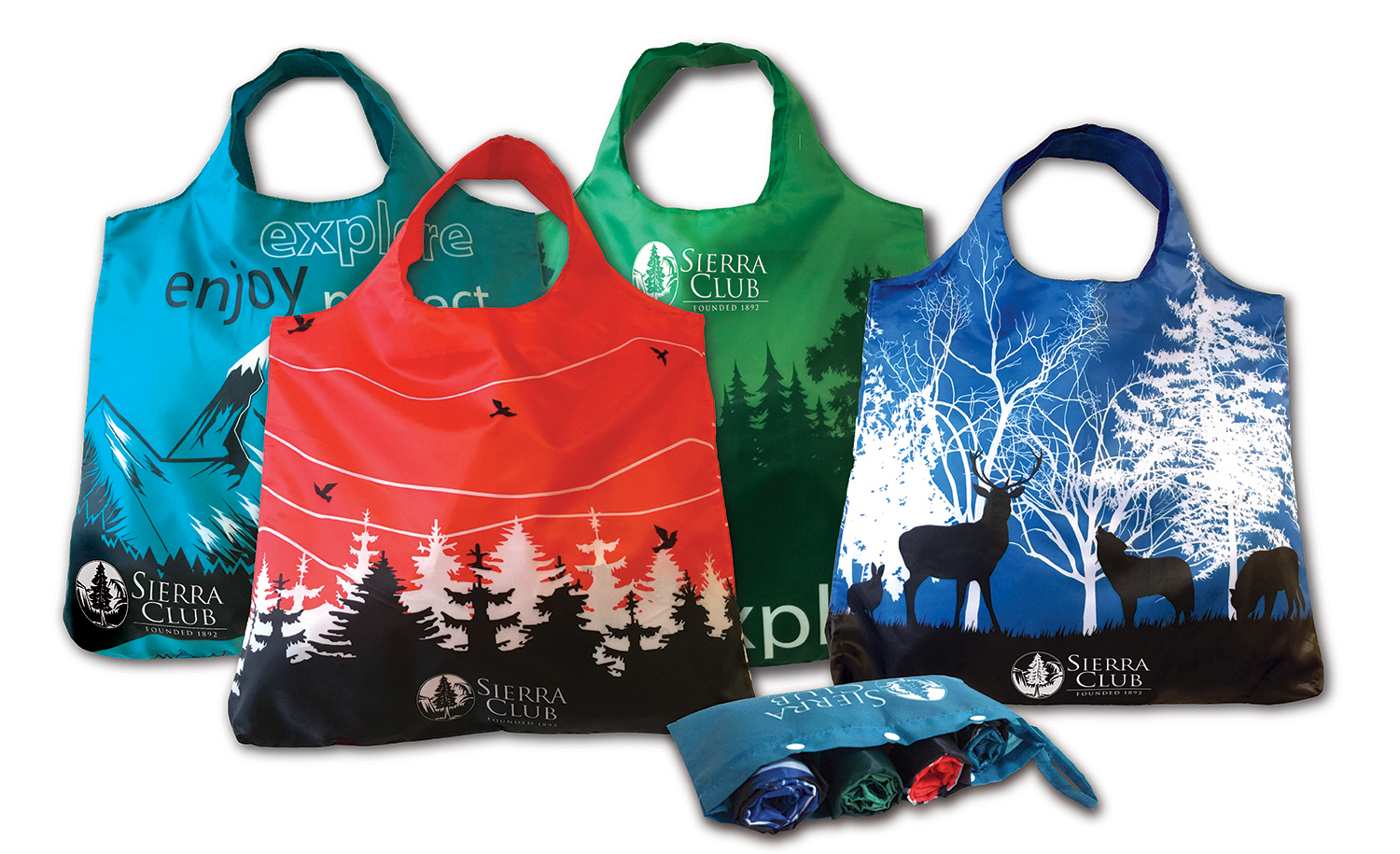 new eco chic reusable shopping bags sierra club online store. Black Bedroom Furniture Sets. Home Design Ideas