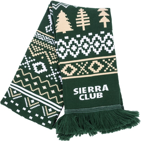 Sierra Club Winter Pattern Scarf LARGE