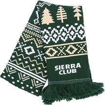Sierra Club Winter Pattern Scarf THUMBNAIL