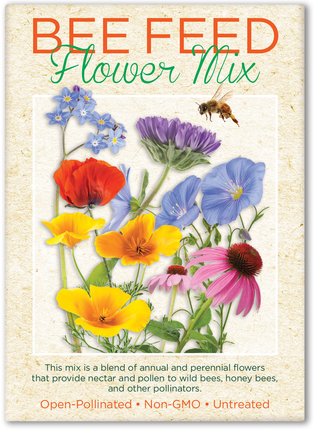 Bee Feed Seed Packet