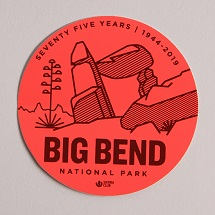 Big Bend Sticker THUMBNAIL