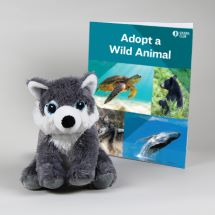 Eco-Plush Gray Wolf Set THUMBNAIL