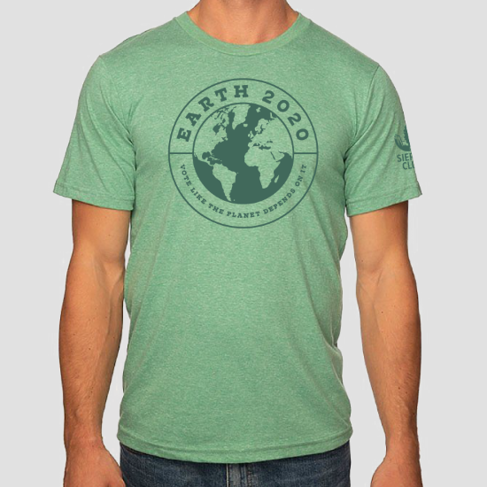 Earth Vote Like the Planet Depends on It Green T-shirt LARGE