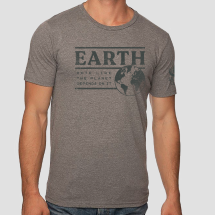 Earth Vote Like the Planet Depends on It Grey T-shirt THUMBNAIL