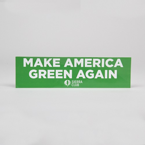 Make America Green Again Bumper Sticker LARGE
