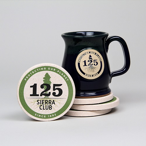 Sierra Club 125th Anniversary Stoneware Mug & Coaster Set