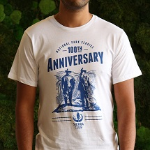 John Muir & Teddy Roosevelt National Park Service 100th Anniversary White T-Shirt THUMBNAIL