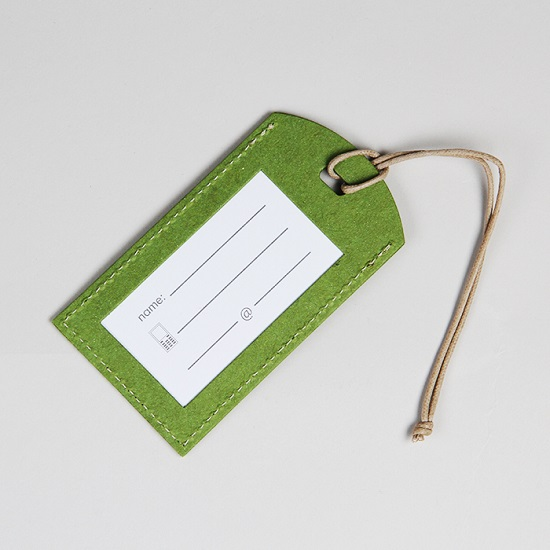 Sierra Club Logo Recycled Green Luggage Tag LARGE