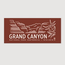 Grand Canyon Centennial Bumper Sticker THUMBNAIL
