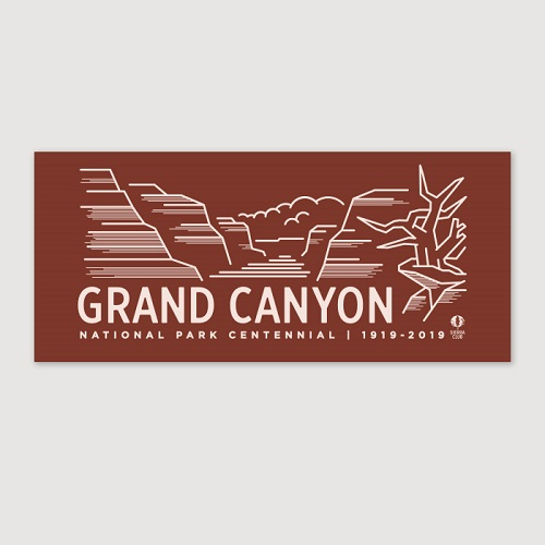 Grand Canyon Centennial Bumper Sticker LARGE