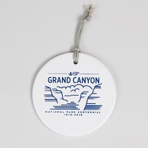Ceramic Grand Canyon NP Centennial Ornament THUMBNAIL