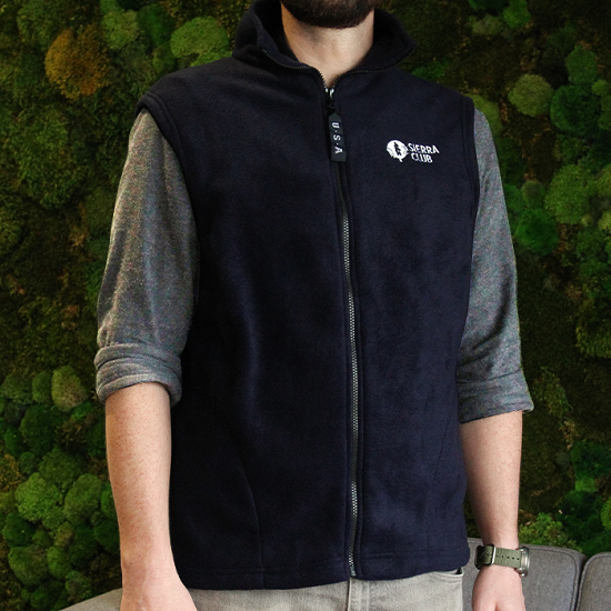 Sierra Club Logo Fleece Vest