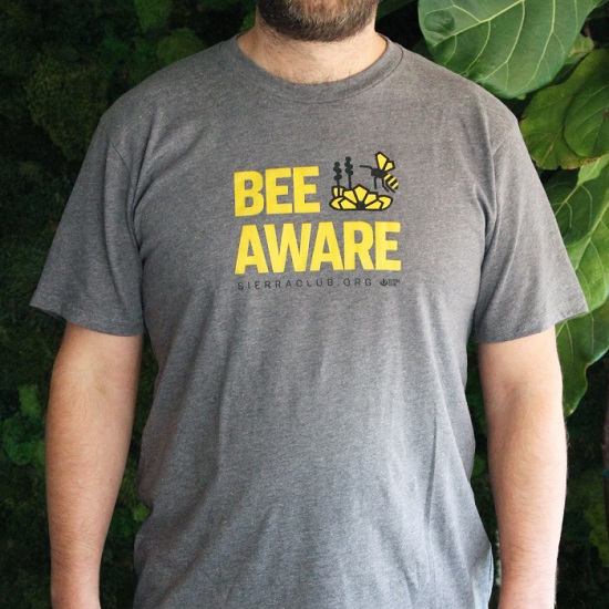 Sierra Club Bee Aware T-Shirt LARGE