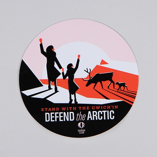 Defend the Arctic Sticker LARGE