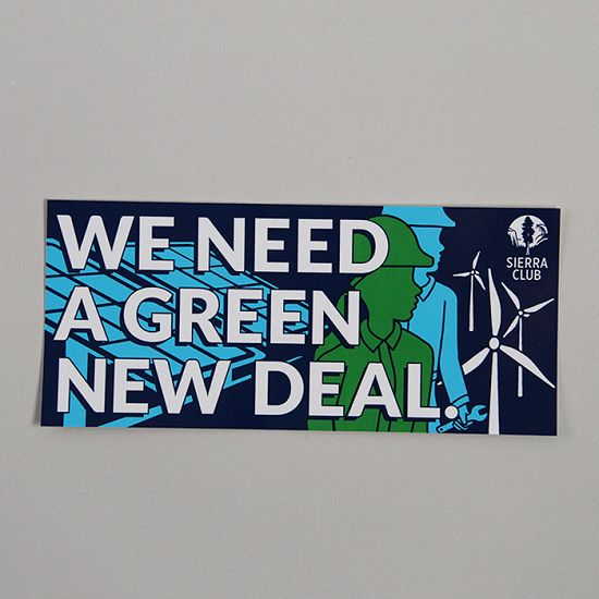 Green New Deal Bumper Sticker LARGE
