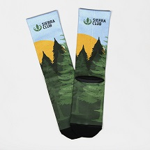 Sierra Club Strideline Forest Socks SWATCH