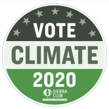 Vote Climate 2020 Sticker THUMBNAIL