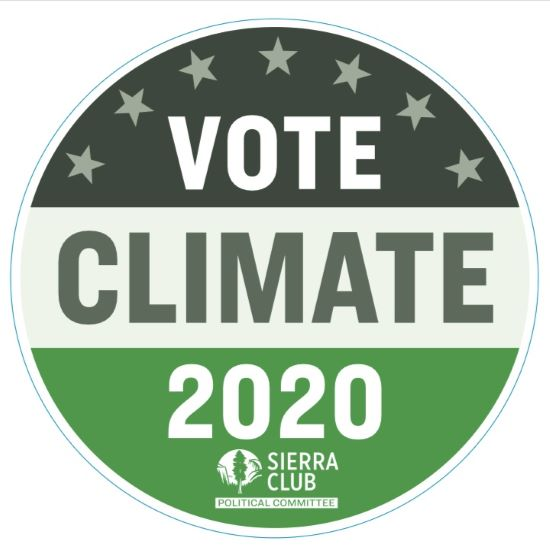 Vote Climate 2020 Sticker LARGE
